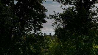 Vue sur le château d'Andlau