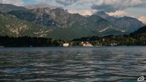 En bateau sur le lac de Côme